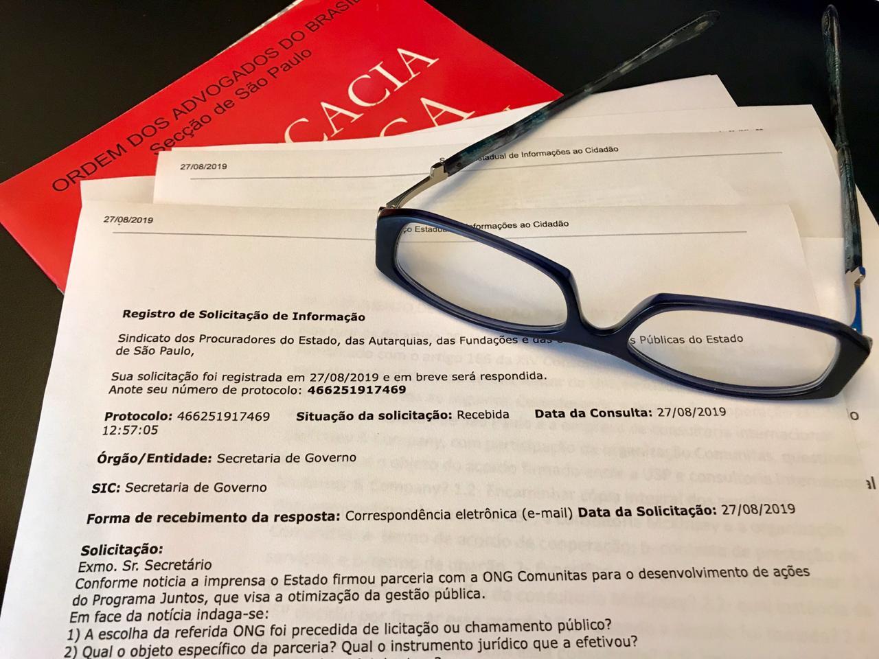 SINDIPROESP PEDE INFORMAÇÃO SOBRE PARCERIA DO ESTADO COM ONG COMUNITAS